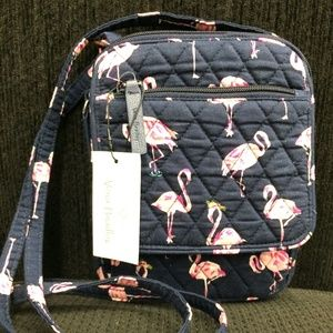 Vera Bradley Blue/Pink Mini Hipster Bag